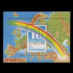 ROMANIA 1982 - MI# B190 S/S Security Conf. NH