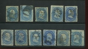 63 & 92 Franklin Used Star Cancel Selection of 11 Stamps (Stock By 6)