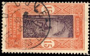 DAHOMEY - 1937 - CAD DOUBLE CERCLE COVÉ / DAHOMEY SUR N°48