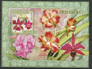 Mozambique MNH S/S Colorful Orchids