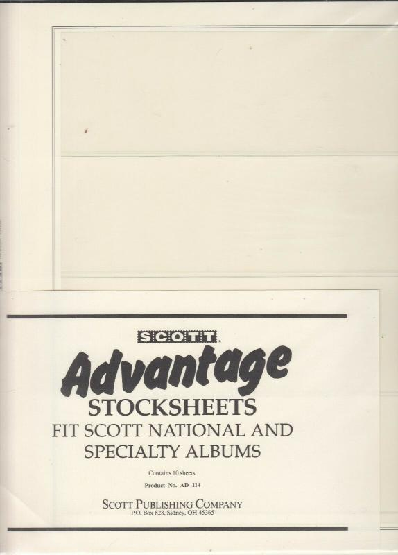 Scott Advantage Stocksheets National & Specialty Albums Pack of 10 Has 4 Pockets