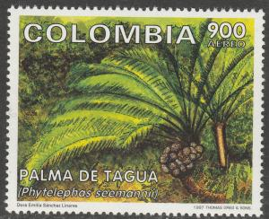 COLOMBIA C897, TAGUA PALM. MINT, NH. F-VF. (544)