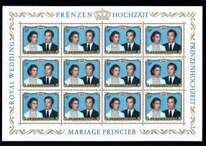 [55929] Luxembourg 1981 Royal wedding Souvenir Sheet MNH