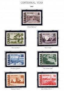 Canada Scott 461- 465B MNH**  stamps