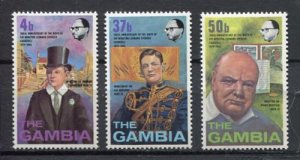 1974 Gambia 297-299 100 years of Winston Churchill
