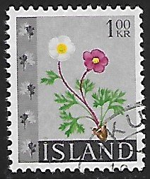 Iceland # 364 - Crowfoot - used....{GBl)