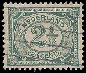Netherlands #60 1898 Used