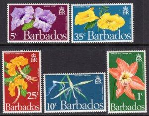 Barbados 348-352 Flowers MNH VF