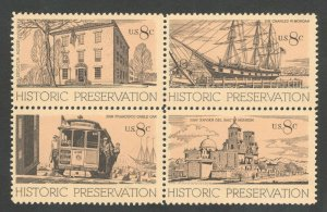 1440-1443 Historic Preservation Block Of 4 Mint/nh Free Shipping