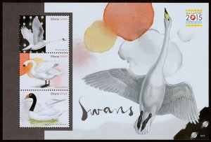 Ghana - Swans - Singapore Stamp Expo (2015) Mint NH VF C