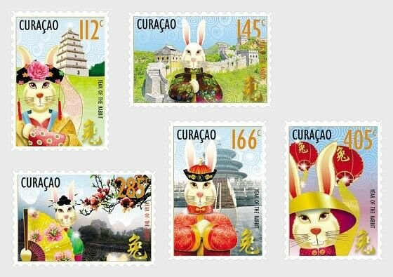 Curacao Stamps 2011. - Chinese New Year - Year of the Rabbit - Set