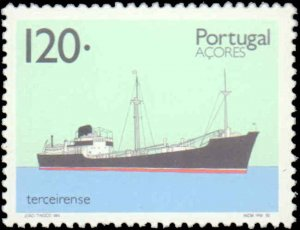 Portugal-Azores #410-413, Complete Set(4), 1992, Ships, Never Hinged