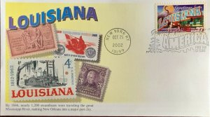 Mystic 3713 Greetings from America Louisiana Stamps from the State