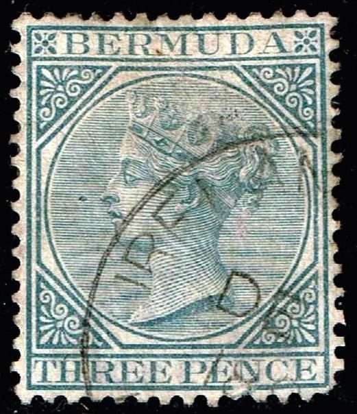UK STAMP BERMUDA 1884 Queen Victoria 3P USED STAMP