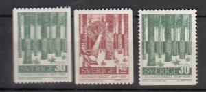 J25657 JLstamps 1959 sweden set mh #544-6 forest