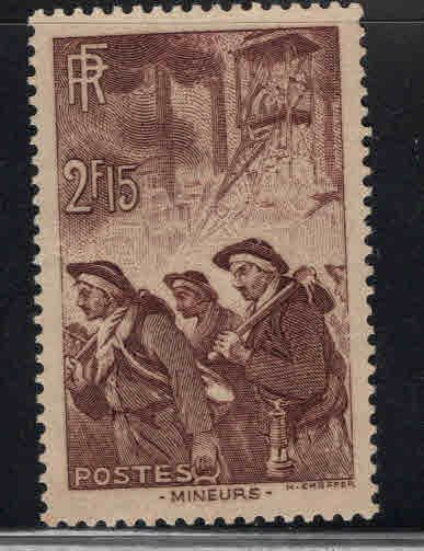 France Scott 343 Miners stamp 1938