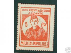 SPAIN Civil War Republic GG78 Alicante  MH*