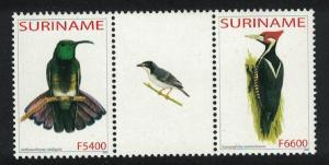 Suriname Green mango Woodpecker Birds 2v SG#1995-1996