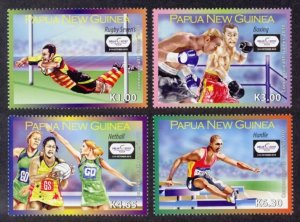 Papua New Guinea Sc# 1486-9 MNH Commonwealth Games 2010