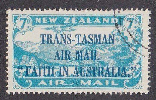 NEW ZEALAND 1934 Trans Tasman 7d fine used - ACS cat NZ$75.................M439