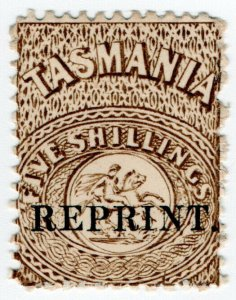 (I.B) Australia - Tasmania Revenue : Stamp Duty 5/- (1889 Reprint)