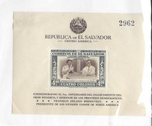 Salvador El, C117, Franklin Roosevelt S/S(1)),**MNH**