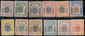 Labuan 1902 SC# 99a-109 MNH no gum L282-3