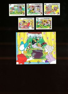 DOMINICA - Scott 925-930  VFMNH - DISNEY - Little Red Cap. Red Riding Hood 1985