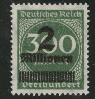 Germany Scott 270 MH* 1924 surcharged stamp