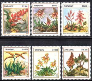 Zimbabwe - 2004 Aloes Set MNH** SG 1132-1137