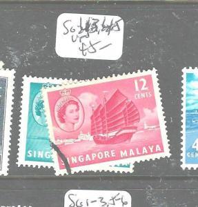SINGAPORE  (P2704B) QEII SG 43, 45  VFU