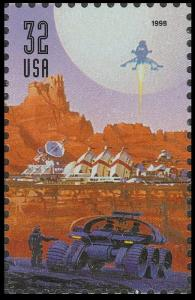 US 3241 Space Discovery Vehicle 32c single (1 stamp) MNH 1998