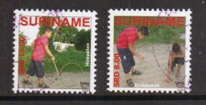 Surinam  #1392a-1392b   cancelled    2009    children at play