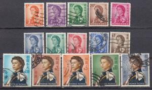 Hong Kong - 1962 Queen Elizabeth II Sc# 203/217 - (2889)