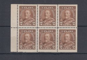 #218b George V issue  Booklet pane VF MNH Cat $105 Canada mint