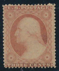 #26 3c 1857 VF OG NH BV351