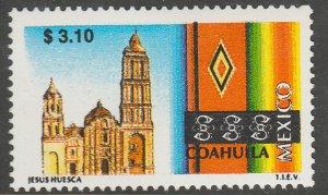 MEXICO 1968, $3.10 Tourism Coahuila, church, sarape. Mint, Never Hinged F-VF.