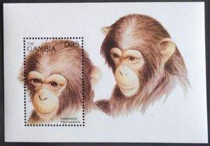 1996 Gambia 2347/B285 Fauna - Monkeys