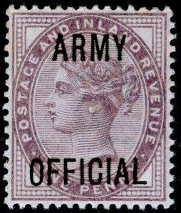 SG O43, 1d lilac, DIE II, NH MINT.