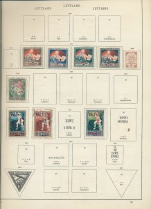 Estonia Latvia Early M&U on Pages(Appx 60 Items) (Ac 1537