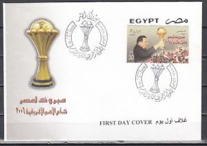 Egypt, Scott cat. 1965. Africa Cup, Soccer issue on a First day cover.