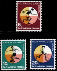 PNG Papua New Guinea Scott 225-227  MNH** south pacific game set