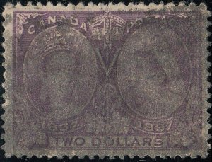 CANADA 62 Used FVF Heavier Ccl. (41020)