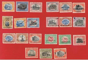 Guatemala  #133//168   MVFH OG   Surcharges   Free S/H