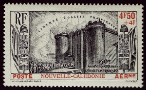New Caledonia CB1 Mint OG VF SCV$40...French Colonies are Hot!