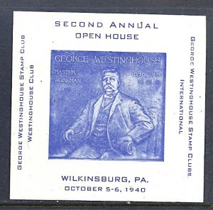 Philatelic Cinderella Wilkinsburg PA 2nd Annual Open House 1940 S/S