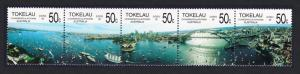 Tokelau Australian Bicentenary strip of 5v SG#154-158 SC#150