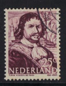 Netherlands 1943   used  Dutch Naval Heroes  25 ct  #