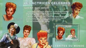 Congo MNH S/S Comedian Lucille Ball 2006