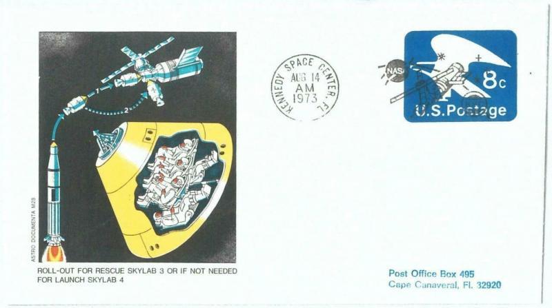 73883 - USA - Postal History - SPECIAL Stationery Cover 1973 SPACE - SKYLAB 4